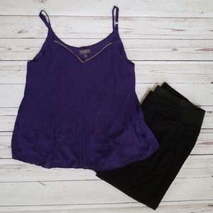 Sleeveless Pleated Tank NWT